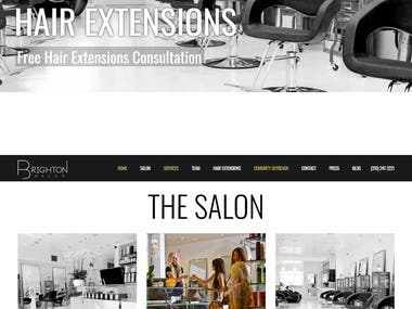 Barber House Website (Wordpress)