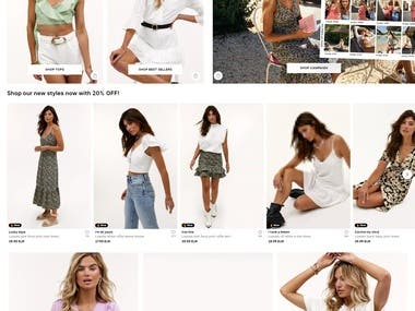 fashion shop website (NodeJS + VueJS)