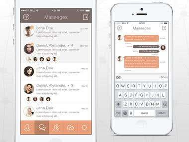 Messenger App - Flat UI