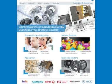 corporate website using joomla cms