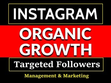 Organic Instagram Growth, Management & Marketing service.
