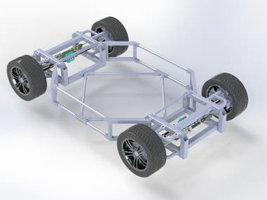Solidworks robot chassis design