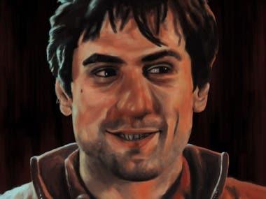 Travis (Robert de Niro) Digital Painting