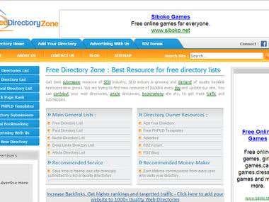 Directory Listing Website - www.freedirectoryzone.com