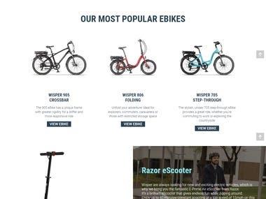 https://wisperbikes.com/ - A Custom Built WordPress Website