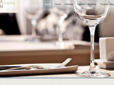 Web page for restaurant in Madrid