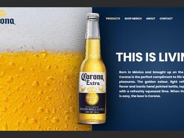 Web design - presentacion producto