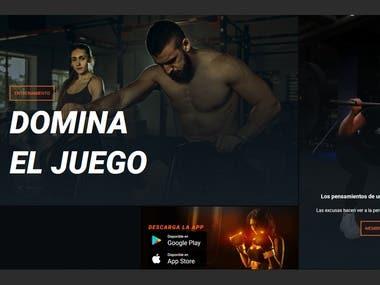 Web site - Gym