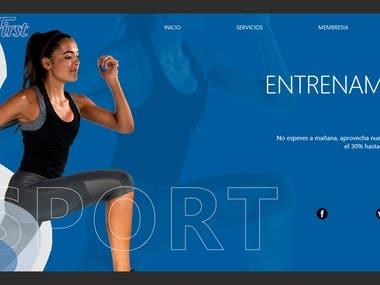 Web design - Gym