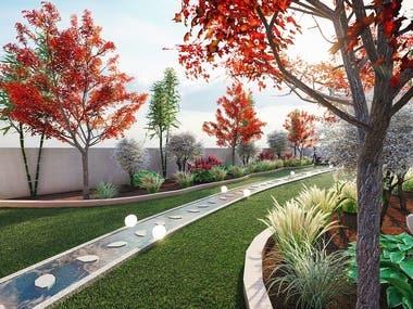 3D Garden Landscape