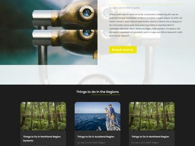 Explorify WordPress Divi theme project