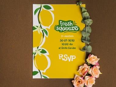 Event design for a lemon theme party