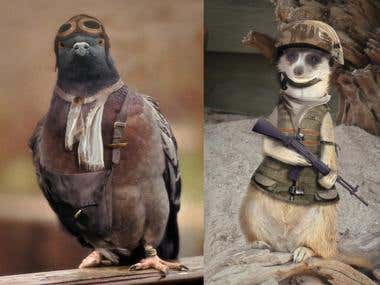 Photoshop animals