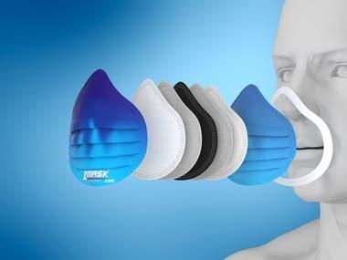 Mask 3D illustration