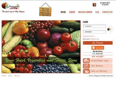 Ecommerce website for fruits and vegetables