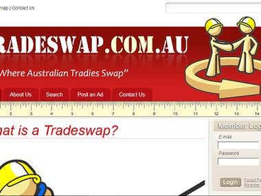 www.tradeswap.com.au - Website to exchange man power online