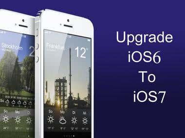 Upgrade iOS 6 to iOS 7 Today
