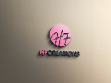 hf creations logo design