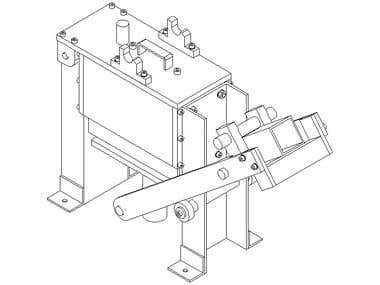 Assembled brick press