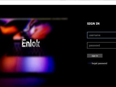 UI design for Enlok Software(C++)