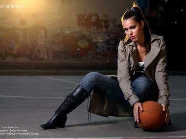 Jovana P. / model for Nightsky.rs