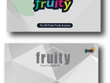 business card for fruity company