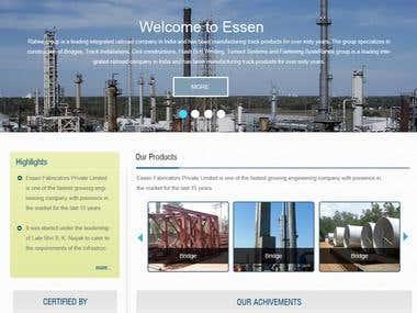 Bootsrap based website design with custom CMS (PHP/MySQL)