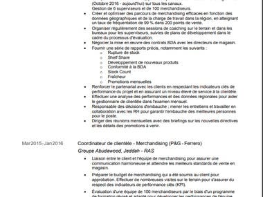 English to French (CV)