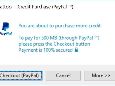 Paypal integration in c++ for Windows