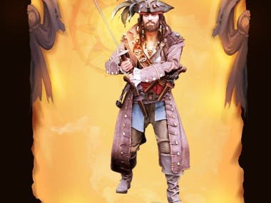 Pirate 3D character