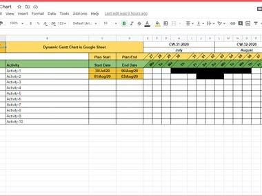 Google Sheet Gantt Chart