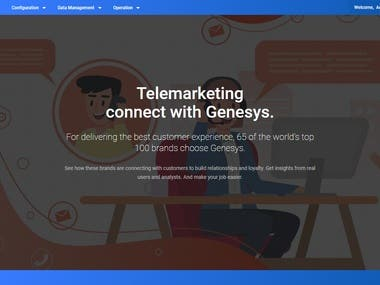 Boost Telemarketing System - private bank Internal project