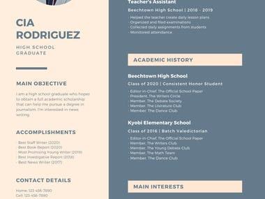 Resume Designing