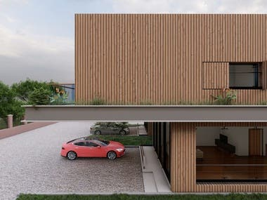 Contemporary Exterior Design | One | Wood facade