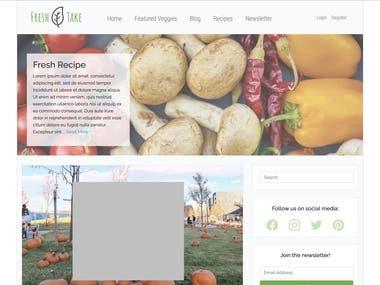 Fresh Take (Food Blog/Newsletter Website)