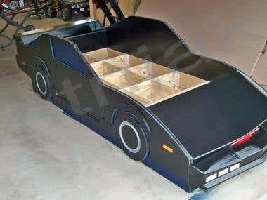 Retro sports car bed design