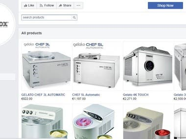 Catalog Creation on Facebook Page