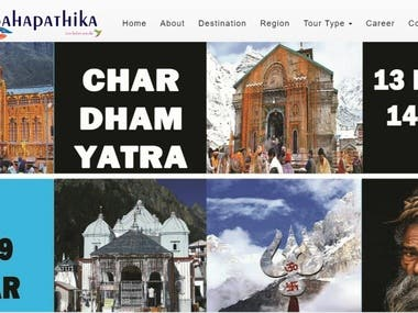 Website for tour and travel company