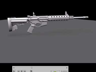 high detailed weapon