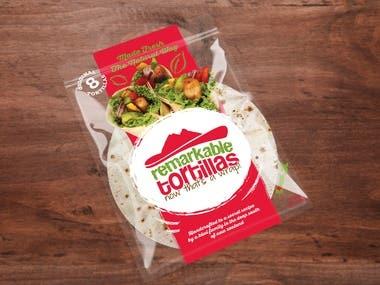 Packaging Design for Remarkable Tortillas