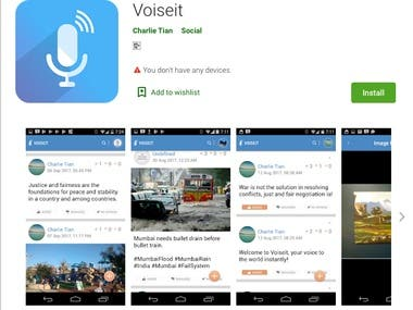 Voiseit App for Android and iOS