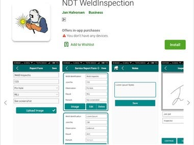 Android app: WeldInspection