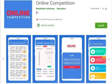 Online Competition: An android app