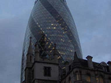 The Gherkin in the Evening