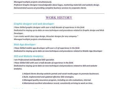 I am Professional Graphics and Web Developer and Designer