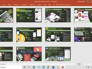 Mobile App development portfolio design