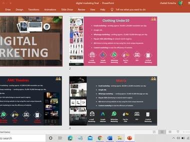 Digital marketing portfolio design