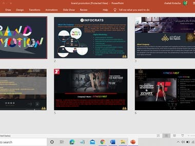 Brand promotion portfolio design