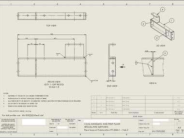 Solidworks Detailed Assembly Drawing