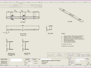 Solidworks Detailed Part Drawings